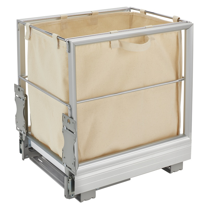 "Rev-A-Shelf 5190-15RM-117, 14-5/16""W Canvas Hamer Pull-Out Slides & Silver Tray :: Image 10"