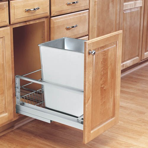 Rev-A-Shelf 5349-15DM-1SS 35 Qt. Pullout Waste Container, 18in Depth :: Image 20