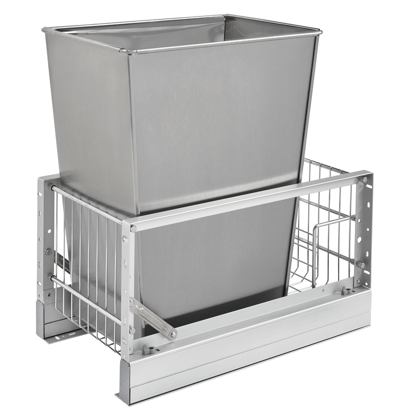 Rev-A-Shelf 5349-15DM18-1SS 35 Qt. Pullout Waste Container, 18in Depth :: Image 10