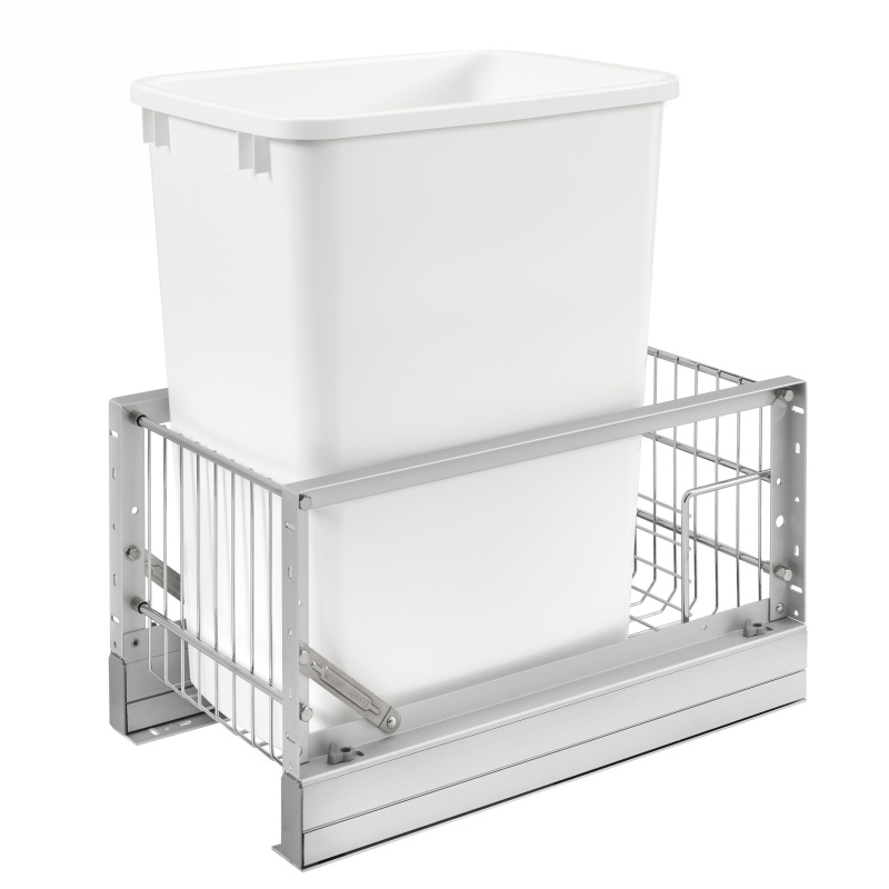 Rev-A-Shelf 5349-15DM18-1 35 Qt. Pullout Waste Container, 18in Depth :: Image 10