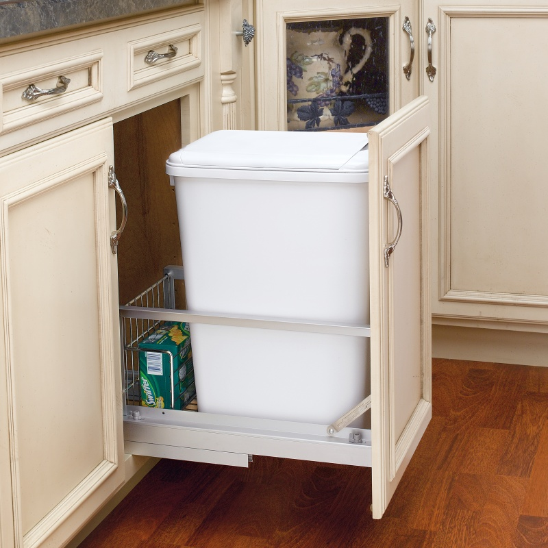 Rev-A-Shelf 5349-15DM18-1 35 Qt. Pullout Waste Container, 18in Depth :: Image 20