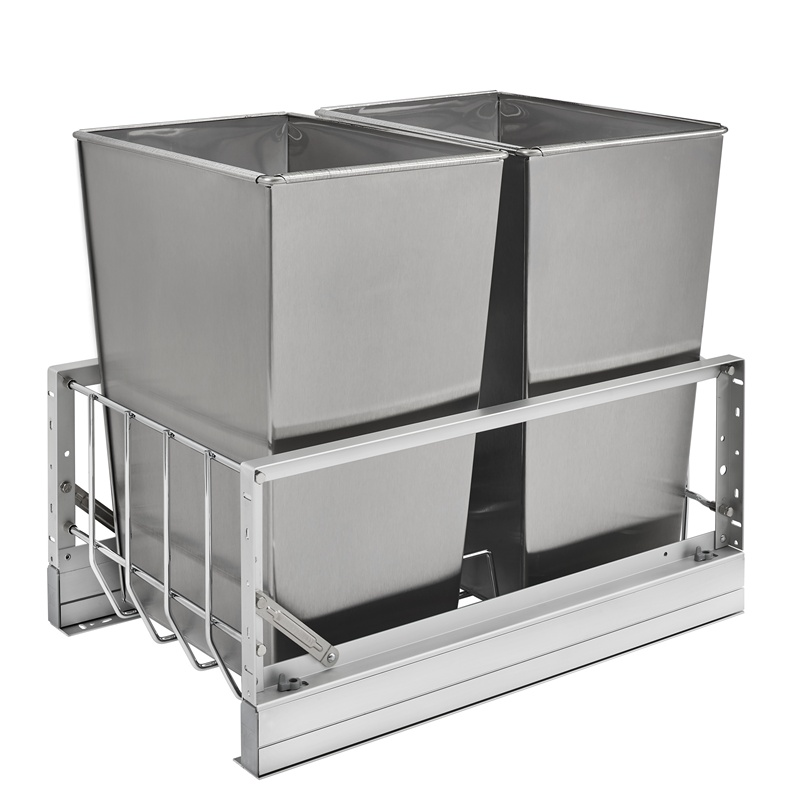 Rev-A-Shelf 5349-18DM-2SS Double 32 Qt. Pullout Waste Containers :: Image 10