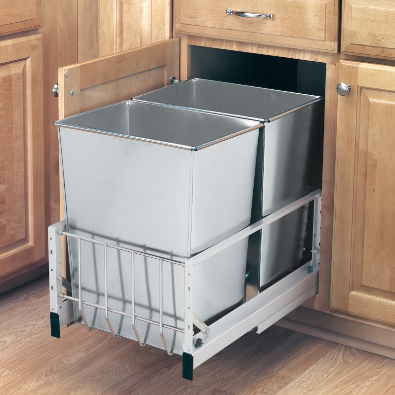 Rev-A-Shelf 5349-18DM-2SS Double 32 Qt. Pullout Waste Containers :: Image 20