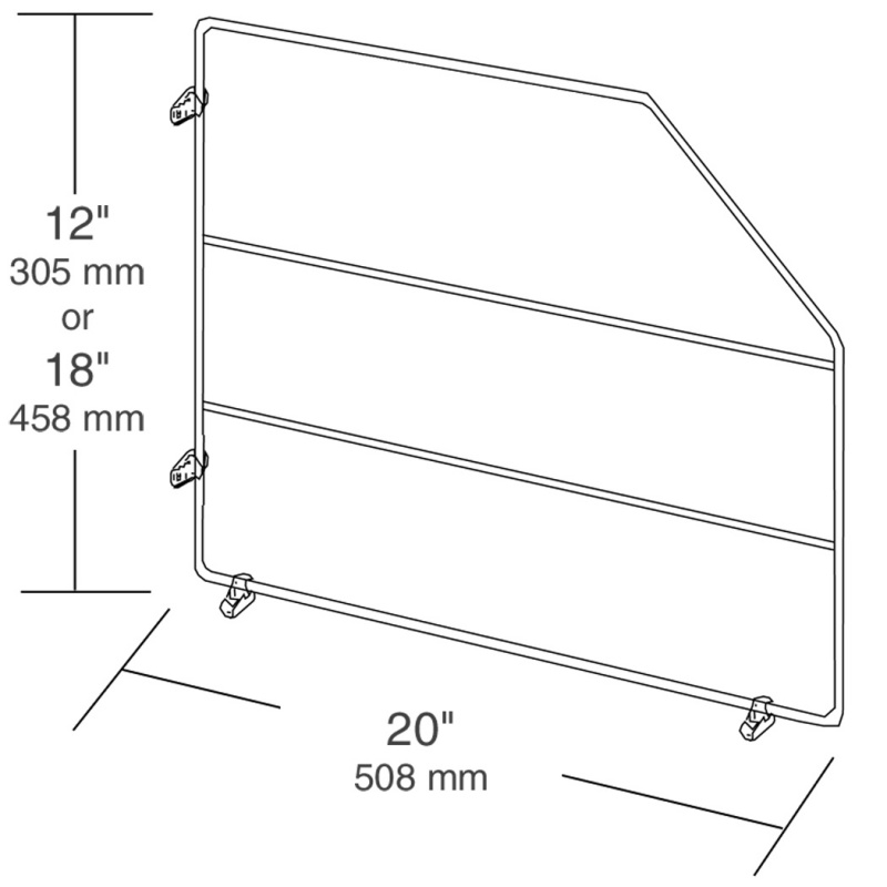 Rev-A-Shelf 597-12-10, 12 H White Wire Tray Divider, Stationary :: Image 20