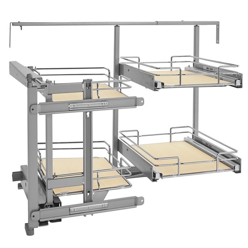 Rev-A-Shelf 599-18-LMP - Two-Tier Blind Corner Organizer, Left :: Image 10