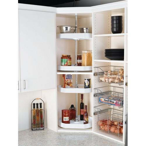 Rev-A-Shelf 6272-22-11-52 - 22in D-Shape Lazy Susans 2-Shelf, White :: Image 10