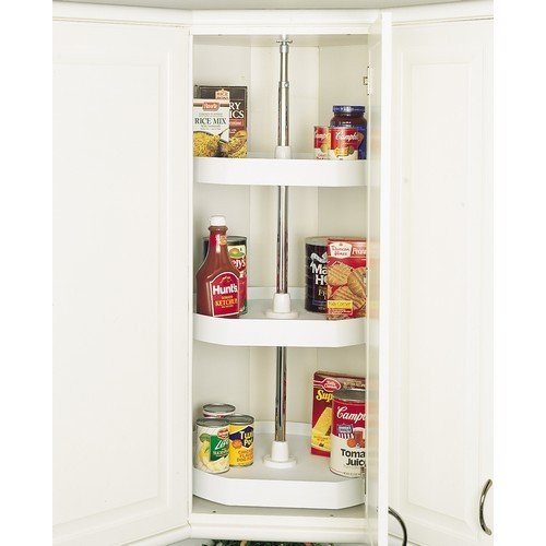 Rev-A-Shelf 6273-22-15-536 - 22in D-Shape Lazy Susans 3-Shelf, Almond :: Image 10