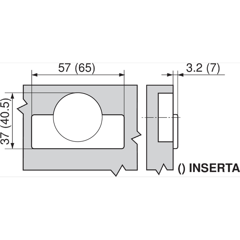 Blum 71B9590-ONYX, 95 Degree Onyx Black CLIP top BLUMOTION Soft-Close Hinge, Full Overlay, INSERTA :: Image 20