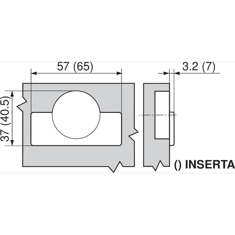 Blum 71B9650-ONYX, 95 Degree Onyx Black CLIP top BLUMOTION Soft-Close Hinge, Half Overlay, Screw-On :: Image 20