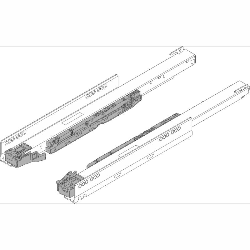 "Blum 753.5001S LEGRABOX 20"" Cabinet Profile, BLUMOTION, Full Extension, Soft-Close, 155 lb :: Image 10"