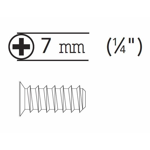 Grass 83001-43 Euro Screw, Flat Head Phillips Drive, Blunt Point, Coarse Thread, 7.5mm long, Nickel, Bulk-500 :: Image 20