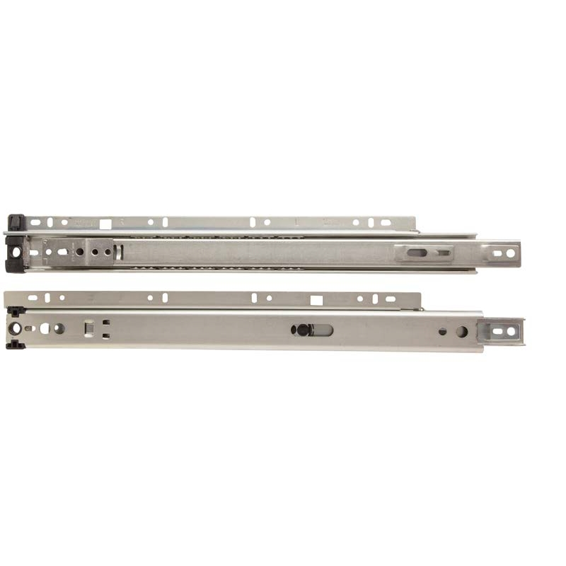 "KV 8300P 22, 22"" 75lb 3/4 Ext Ball Bearing Quick Disconnect Rail Drawer Slide, Anochrome, Polybag, Knape and Vogt :: Image 10"