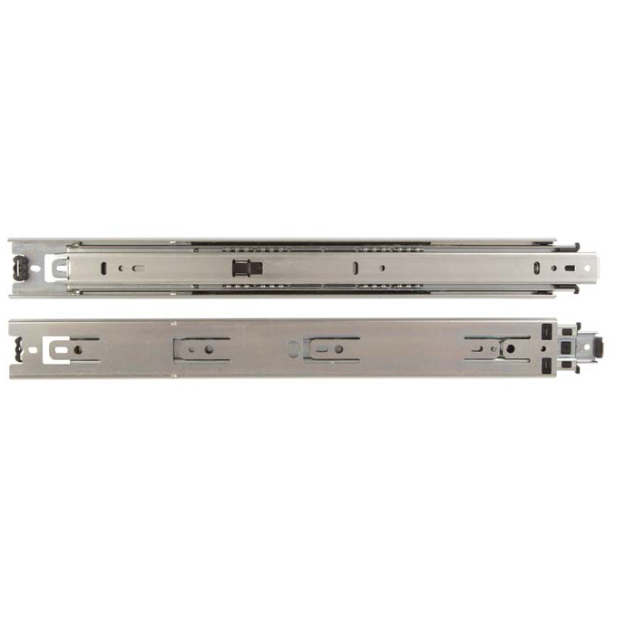 "KV 8414P 14, 14"" 100lb Side Mount Full Ext Stay Close Hold Out Ball Bearing Drawer Slide, Anochrome, Polybag, Knape and Vogt :: Image 10"