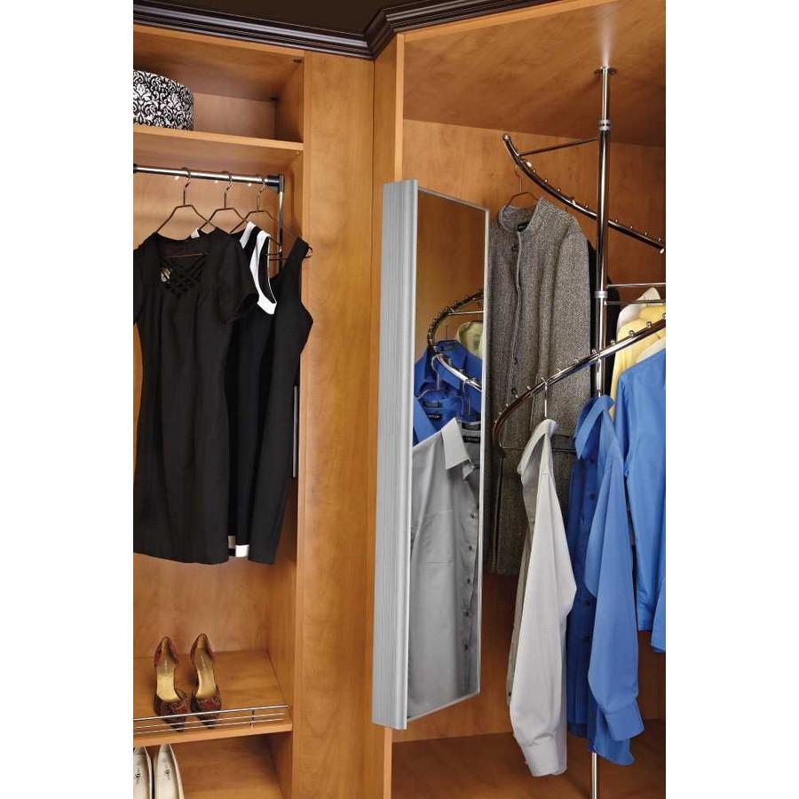 "48"" Pullout Closet Mirror Satin Nickel Rev-A-Shelf CM-1448-SN-1"