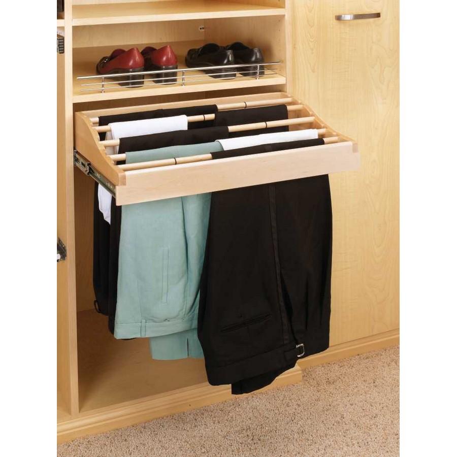 "24"" Wood Pants Rack Organizer Rev-A-Shelf CWPR-2414-1"