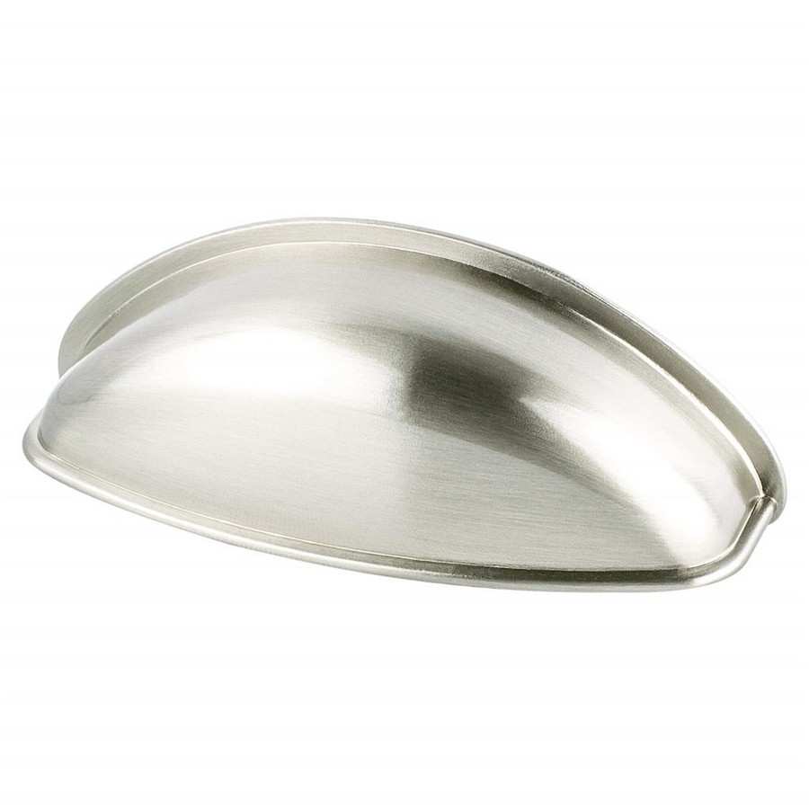 Euro Moderno Cup Pull 64mm Center to Center Brushed Nickel Berenson 9710-1BPN-P