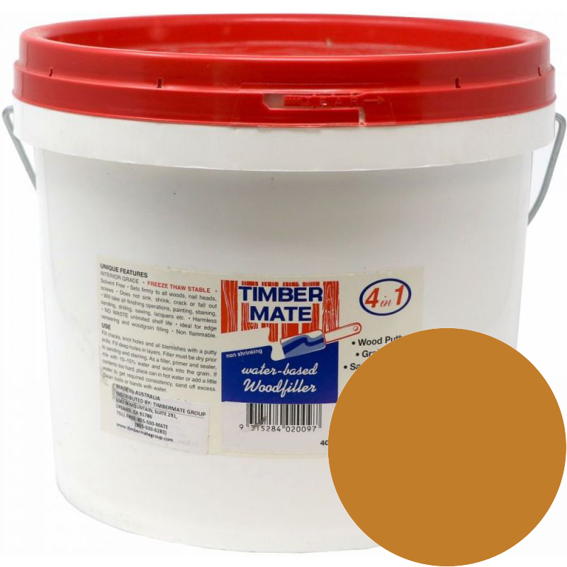 2.5 Gallon Cypress-Teak Water-Based Wood Putty, Ready to Use, Timbermate Products AAC20 :: Image 10