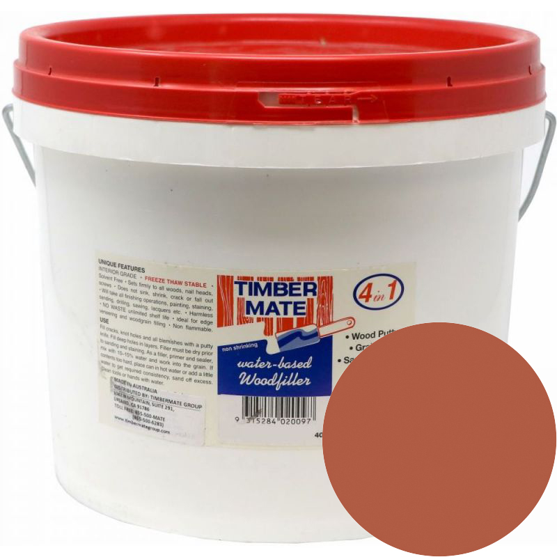 2.5 Gallon Mahogany Water-Based Wood Putty, Ready to Use, Timbermate Products AAM20 :: Image 10