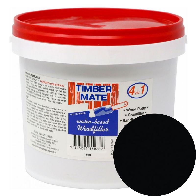 1 Gallon Rustic Ebony Water-Based Wood Putty, Ready to Use, Timbermate Products AR8 :: Image 10