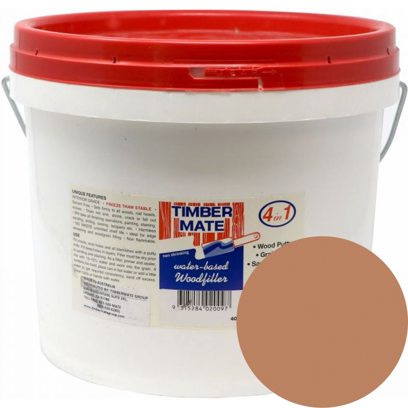 2.5 Gallon Red Oak Water-Based Wood Putty, Ready to Use, Timbermate Products ARO20 :: Image 10