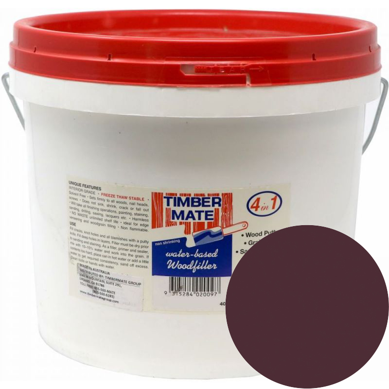 2.5 Gallon Walnut Water-Based Wood Putty, Ready to Use, Timbermate Products AW20 :: Image 10
