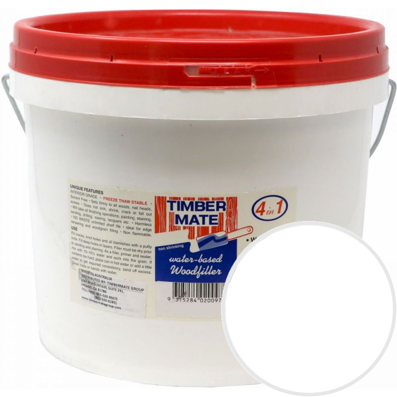 2.5 Gallon White Water-Based Wood Putty, Ready to Use, Timbermate Products AWH20 :: Image 10