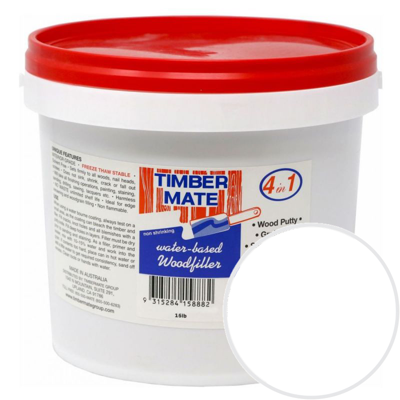 1 Gallon White Water-Based Wood Putty, Ready to Use, Timbermate Products AWH8 :: Image 10