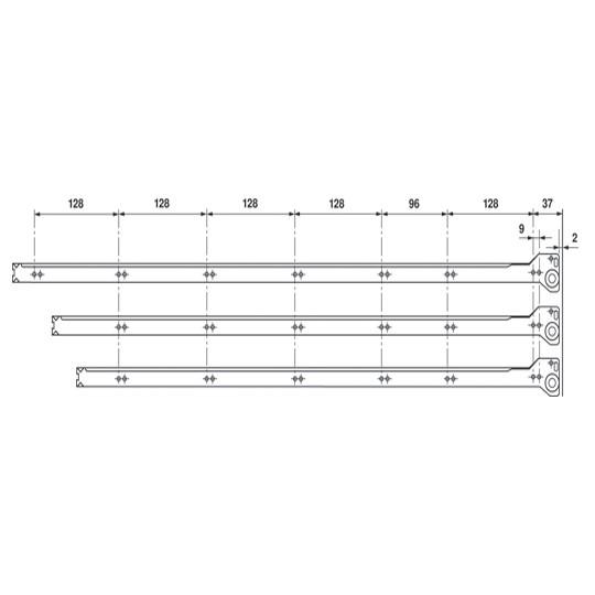 Blum 230E8000 32in Standard 230E Epoxy Drawer Slide, Cream, Polybag :: Image 50
