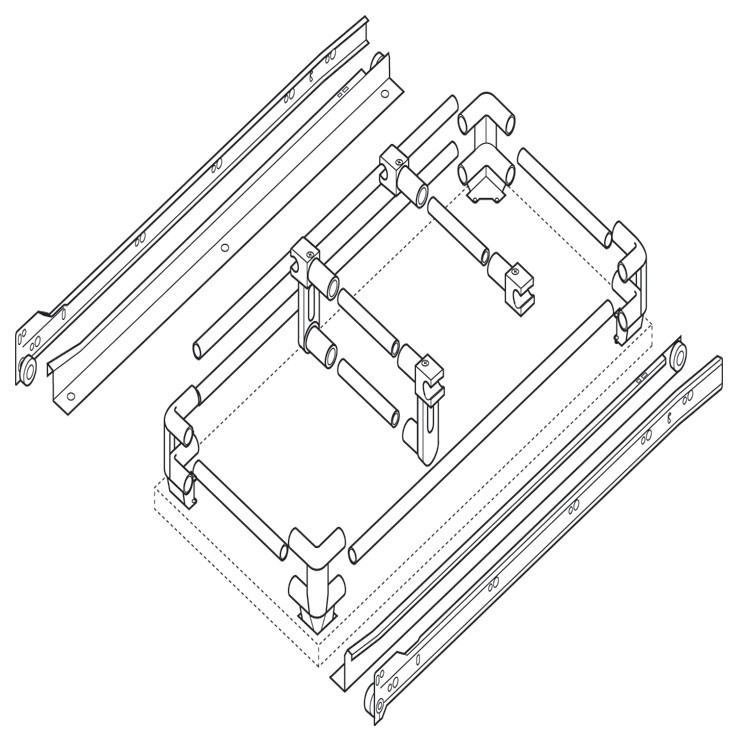 Blum 230M4000 16in Standard 230M Epoxy Drawer Slide Bulk-25 Sets, Cream :: Image 60