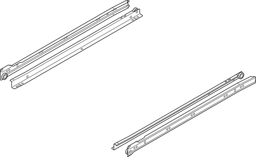 Blum 230M3000 12in Standard 230M Epoxy Drawer Slide, White, Polybag :: Image 10