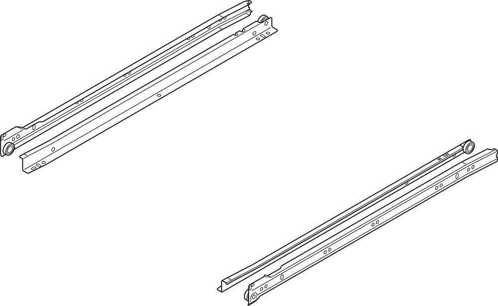 Blum 230M6500 26in Standard 230M Epoxy Drawer Slide, White, Polybag :: Image 100