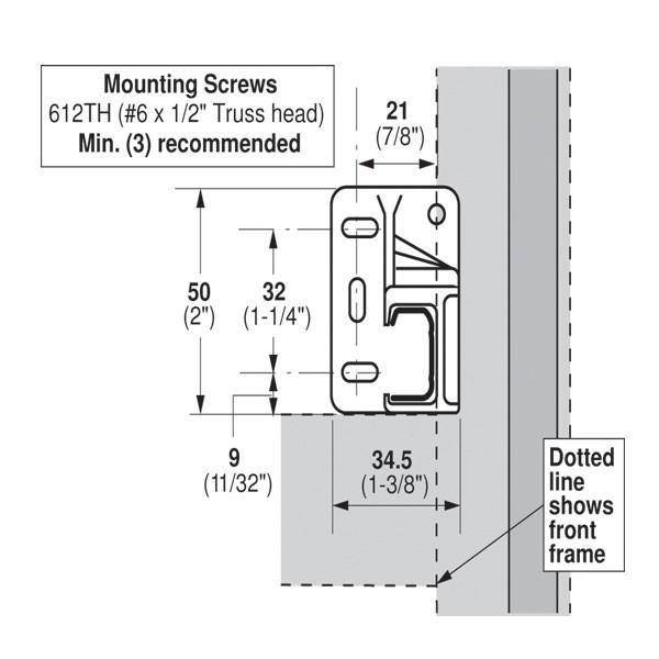 Blum 602301 Left Hand Rear Plastic Socket for Blum Standard 230M Drawer Slide :: Image 30
