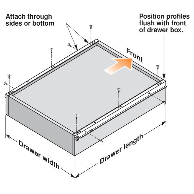 Blum 230M6500 26in Standard 230M Epoxy Drawer Slide, Cream, Polybag :: Image 10