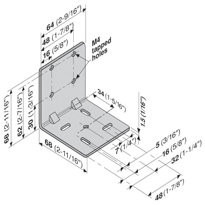 Blum 295.4000 Universal Bracket for Tandem Drawer Slide :: Image 70