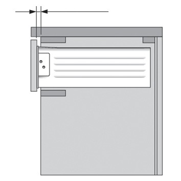 Blum 298.3210.01 METABOX 320 Series 1.5mm Gap Post Stop :: Image 60