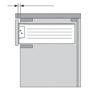 Blum 298.3210.01 METABOX 320 Series 1.5mm Gap Post Stop :: Image 20