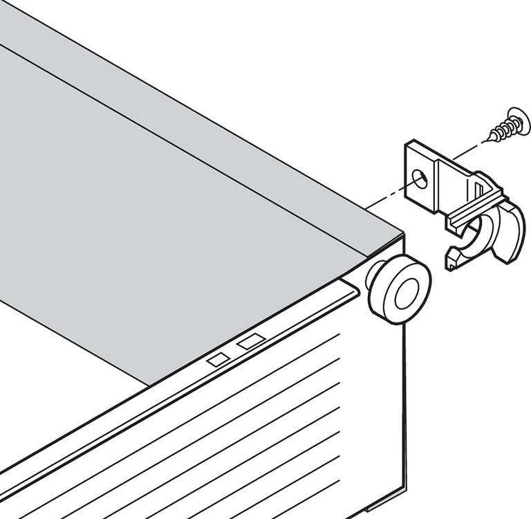 Blum 298.3210.01 METABOX 320 Series 1.5mm Gap Post Stop :: Image 70