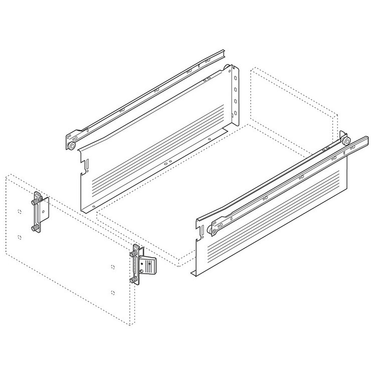 Blum 320H3500C15 14in METABOX 320H Slide, 6in Side Height, 3/4 Ext :: Image 10