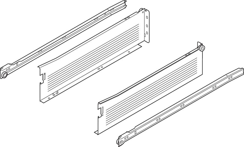 Blum 320K4500C15 18in METABOX 320K Slide, 5in Side Height, 3/4 Ext :: Image 120