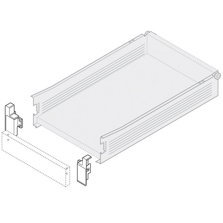Blum ZIF.3000.02 R Right Hand Interior Front Fixing Bracket for 320M METABOX :: Image 10