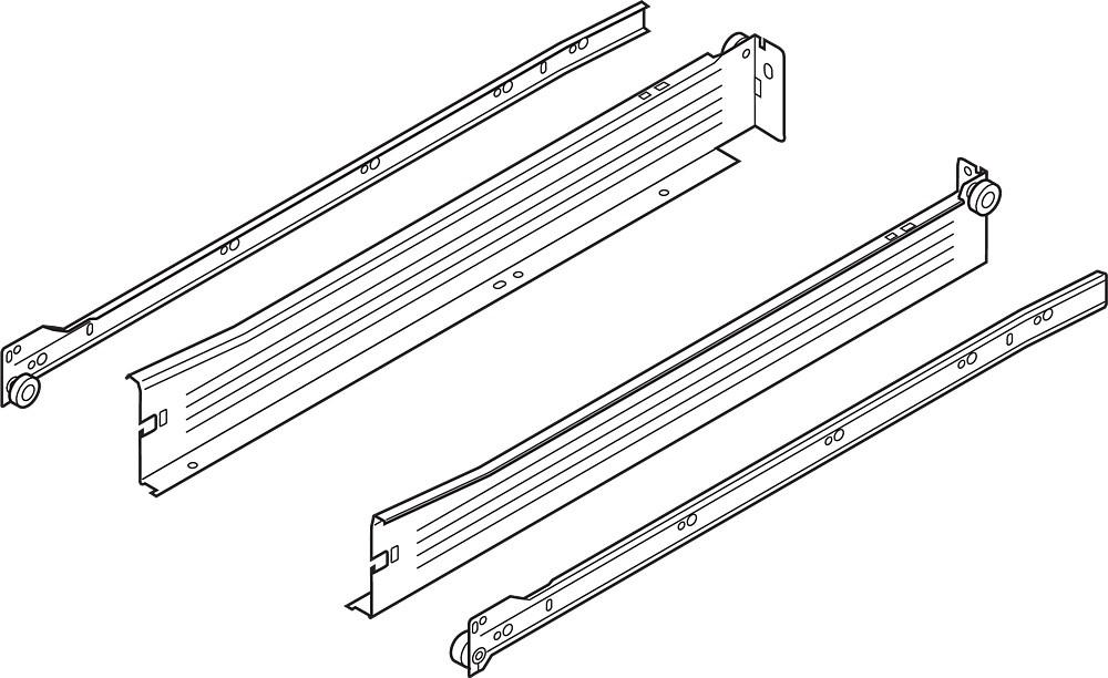 Blum 320N2700C 11in METABOX 320N Slide, 2in Side Height, 3/4 Extension :: Image 10
