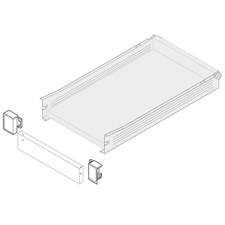 Blum ZIF.3010.02 R Right Hand Interior Front Fixing Bracket for 320N METABOX :: Image 20