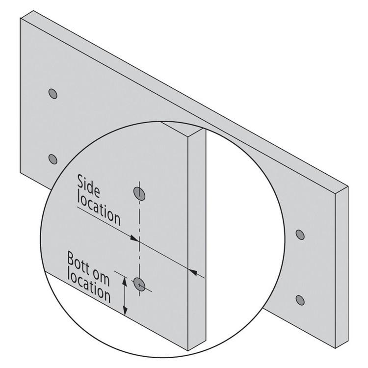 Blum 320N5500C15 22in METABOX 320N Slide, 2in Side Height, 3/4 Ext :: Image 190
