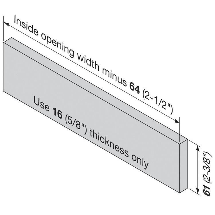 Blum 320N5500C15 22in METABOX 320N Slide, 2in Side Height, 3/4 Ext :: Image 110