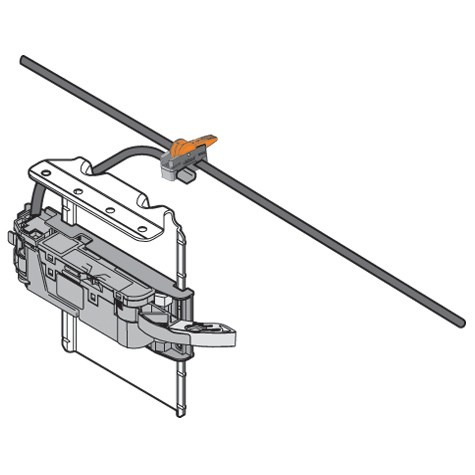 Blum Z10T720AB 28-3/8 SERVO-DRIVE Vertical Aluminum Profile with Cable :: Image 60