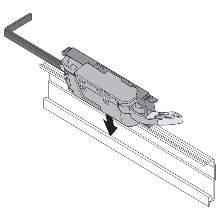 Blum Z10T1143B 45in SERVO-DRIVE Horizontal Aluminum Profile :: Image 190