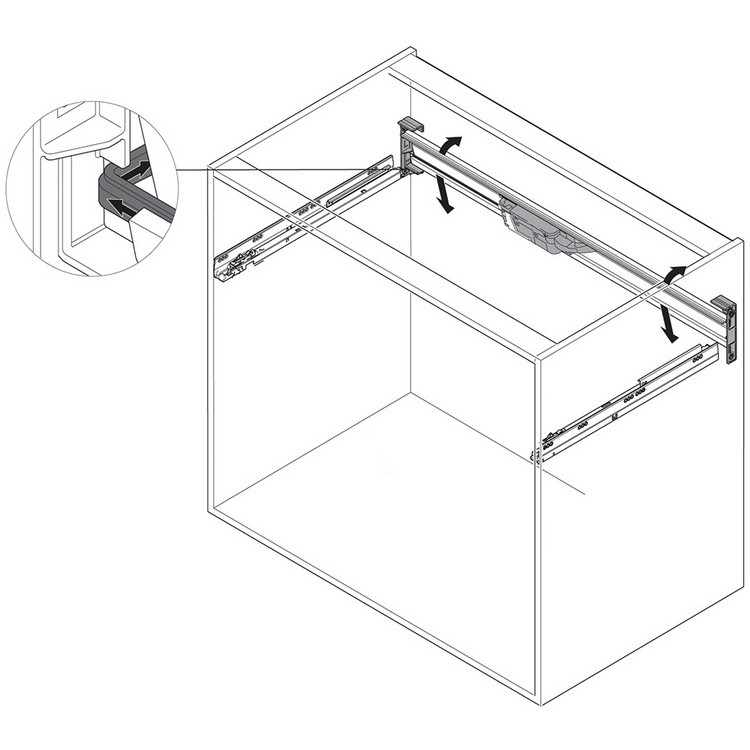 Blum Z10T1143B 45in SERVO-DRIVE Horizontal Aluminum Profile :: Image 180