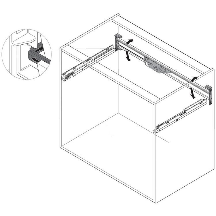 Blum Z10T1143B 45in SERVO-DRIVE Horizontal Aluminum Profile :: Image 50