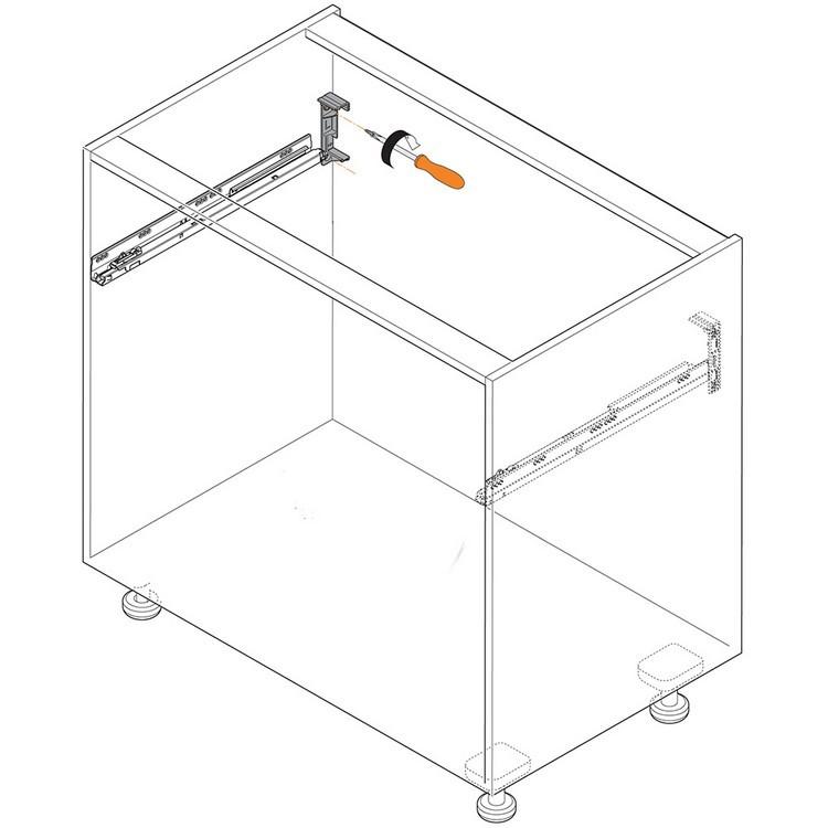 Blum Z10D5210.US SERVO-DRIVE Adapter Set for Horizontal Aluminum Profile Panels :: Image 60