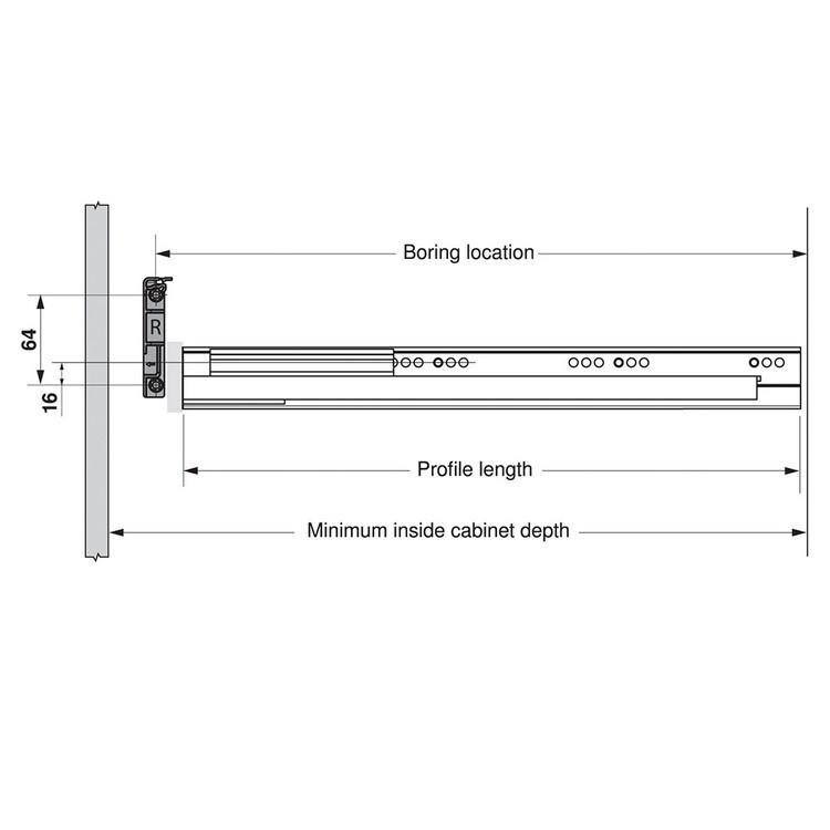 Blum Z10D5210.US SERVO-DRIVE Adapter Set for Horizontal Aluminum Profile Panels :: Image 70